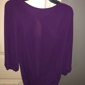Tops - Super cute purple blouse with gold bow on back